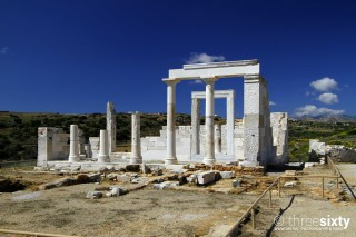 about naxos valena mare temple of dimitra